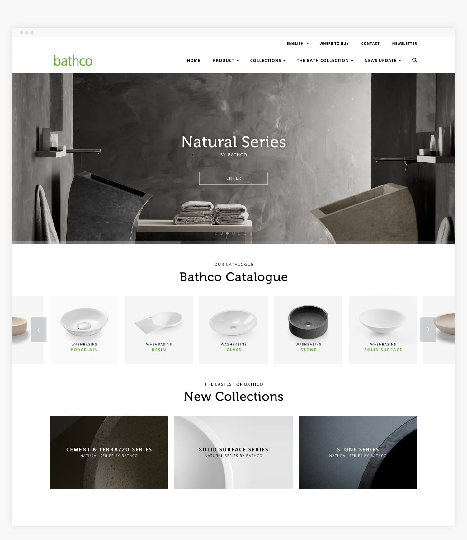 Diseño Web The Bathco Collection