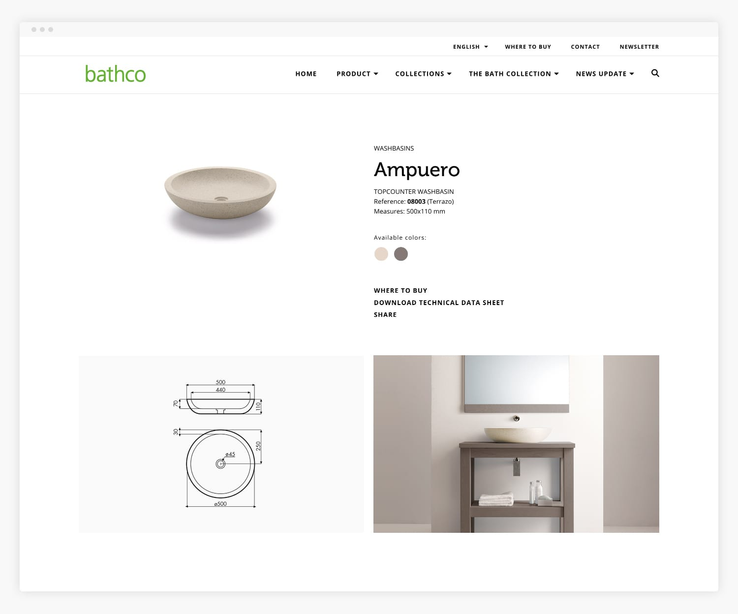 Desarrollo Web The Bathco Collection