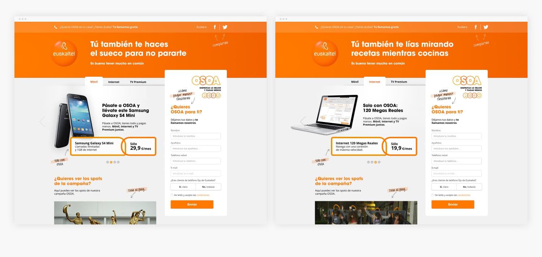 Euskaltel: Digital strategy, advertising & online marketing